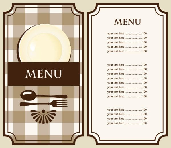 Set of cafe and restaurant menu cover template vector 02 装飾 - free dinner menu templates