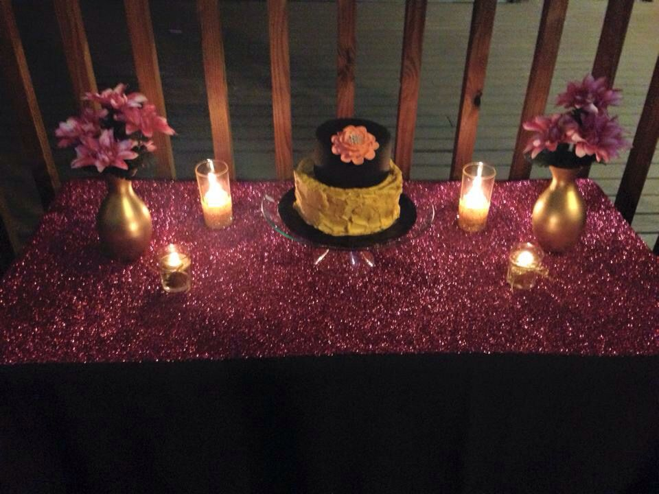 Fabulous Fifty Decoration Birthday Black Gold And Pink