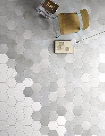 Hexagonal White Stone Tiles Wall Google Search