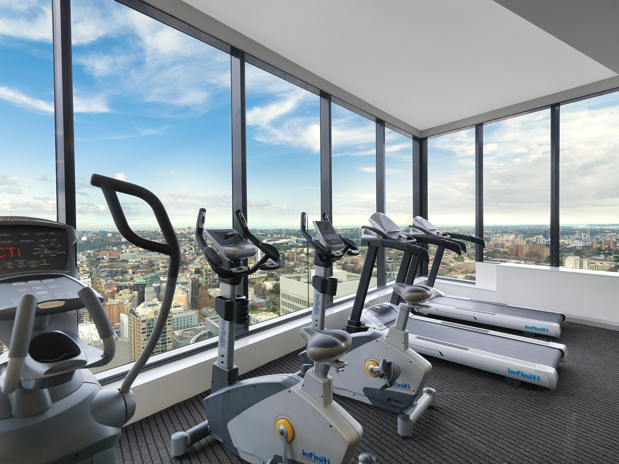 Sky Gym Level 61 Sydney Australia Luxury Hotels Highrise Meriton Panoramic Sky Panoramic Views