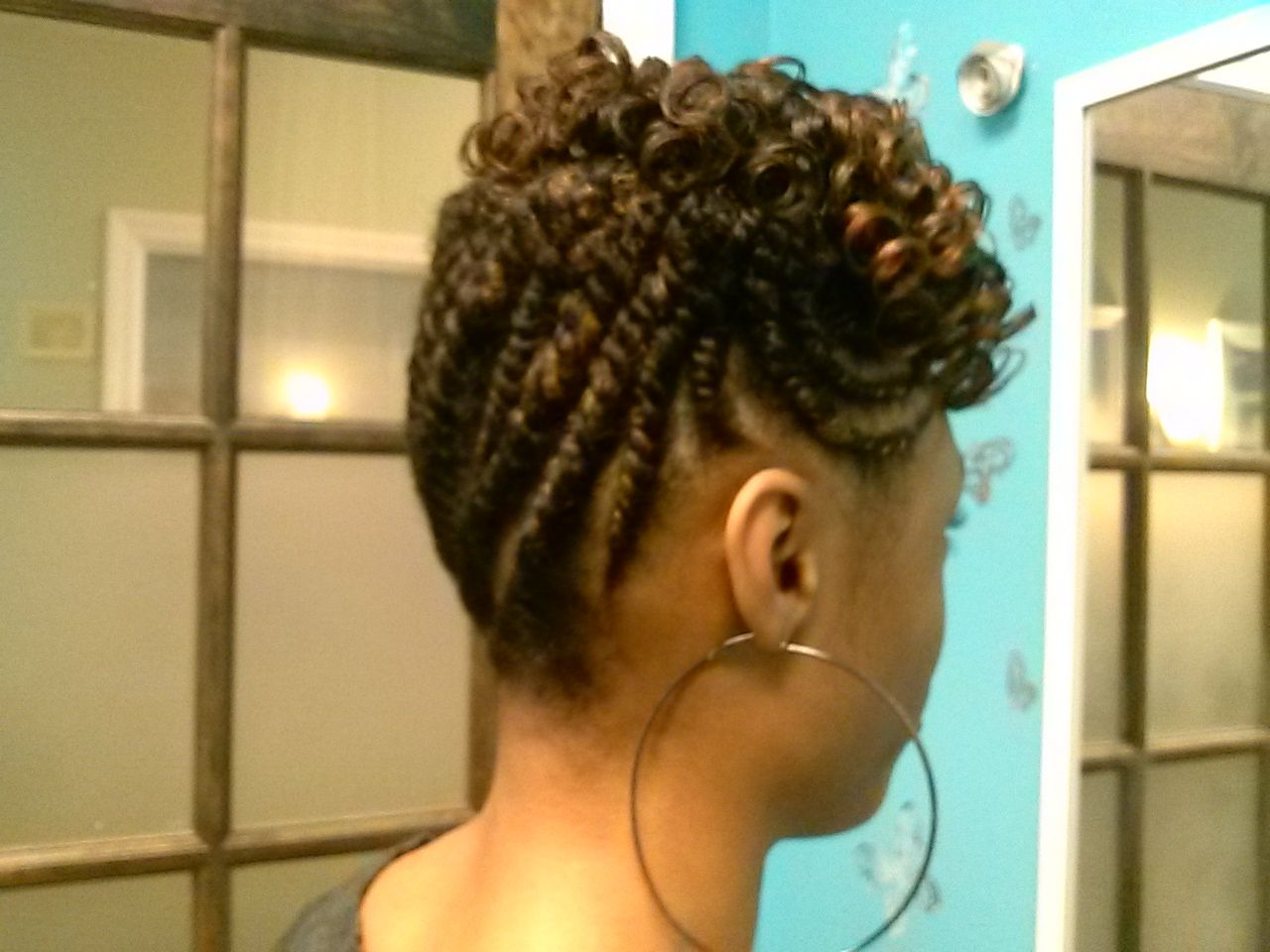 2 Strand Twisted Style W/ Hair Added For Thickness And