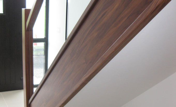 Best Contemporary Walnut Staircase With Glass Detail Private 640 x 480
