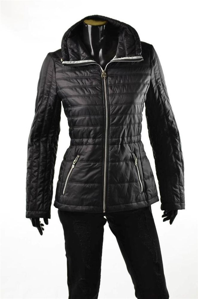 Guess Jacket Womens Outerwear New Packable Quilted Black