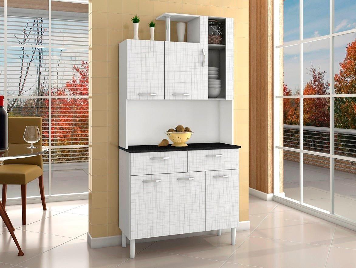 Mueble de cocina alacena armario kit 6 puertas 2 cajones for Alacenas de cocina