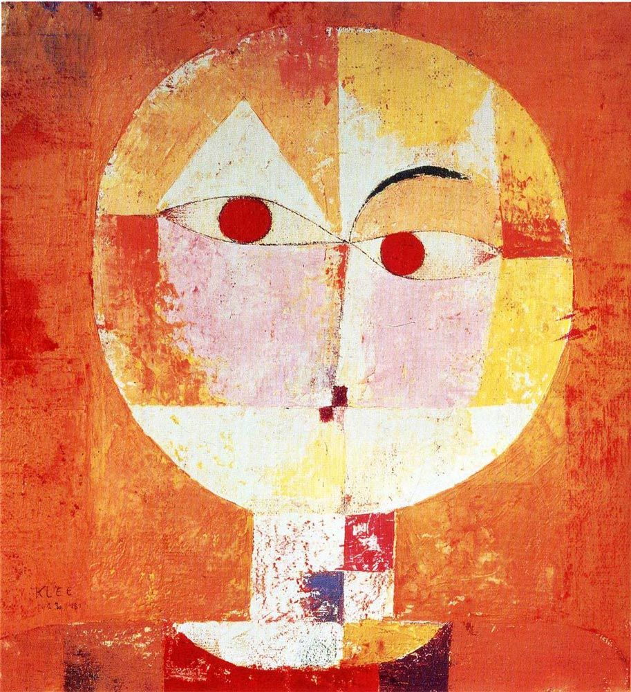 paul klee senecio 1922 je suis peintre abstrait avec des souvenirs portrait visage qui. Black Bedroom Furniture Sets. Home Design Ideas