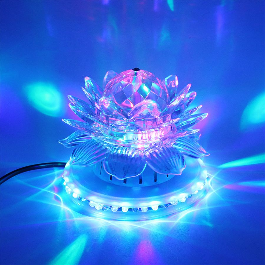 Mini Rgb Led Stage Lampadas Auto Rotacao De Cristal Bola Magica Girassol Lampada Festa Dj Disco Club Stage Ligh Led Stage Lights Crystal Magic Ball Dj Lighting