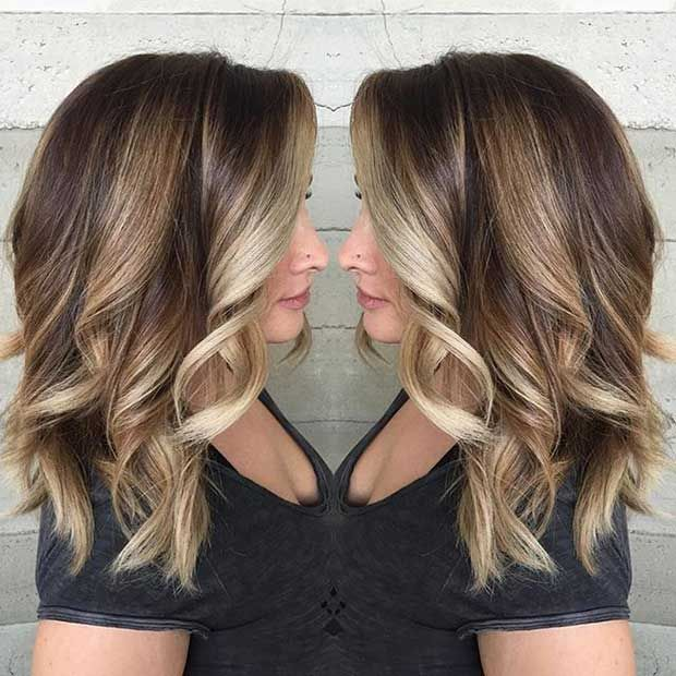 47 Stunning Blonde Highlights For Dark Hair Stayglam Dark Hair With Highlights Blonde Highlights On Dark Hair Brown Hair With Blonde Highlights