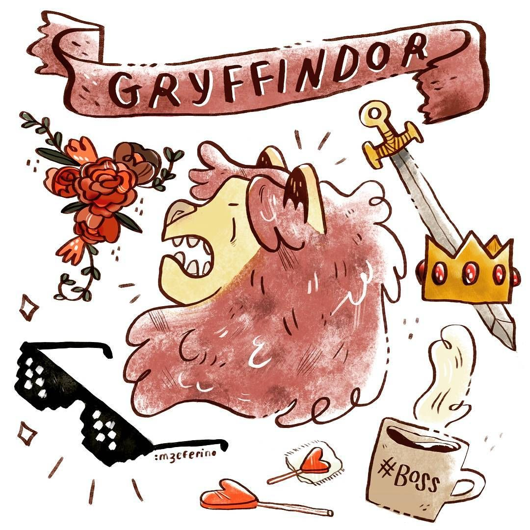 When You Are Brave And You Won T Behave Gryffindor Ilustracao