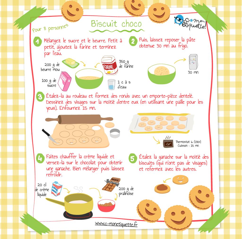 Recette biscuits maison au chocolat recettes enfant for Pinterest cuisine noel