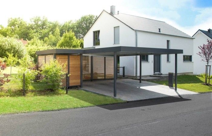 carport selber bauen mehr als 70 ideen und bauanleitungen carport carport. Black Bedroom Furniture Sets. Home Design Ideas