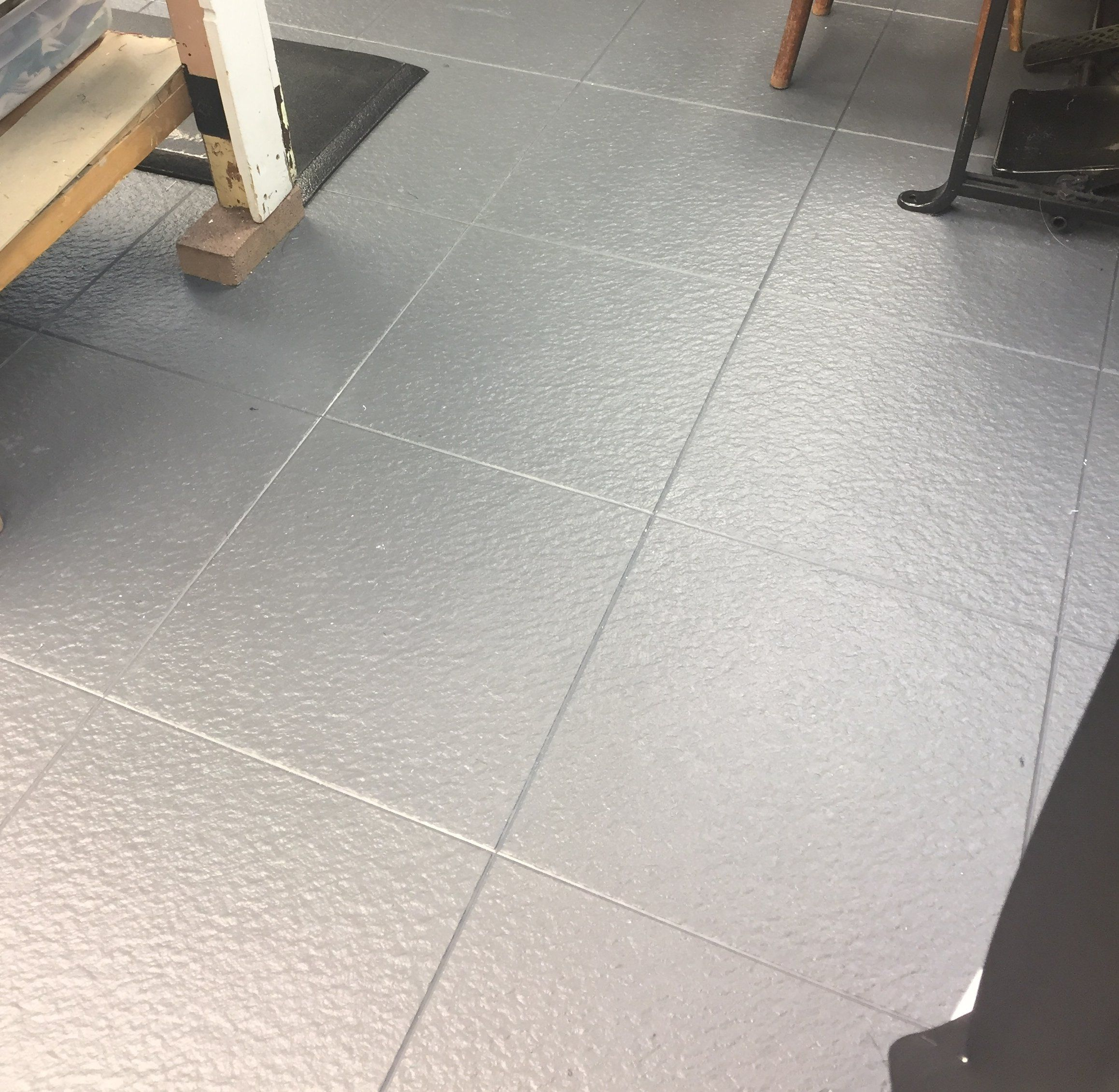 Slate Grey Rubber Floor Tiles