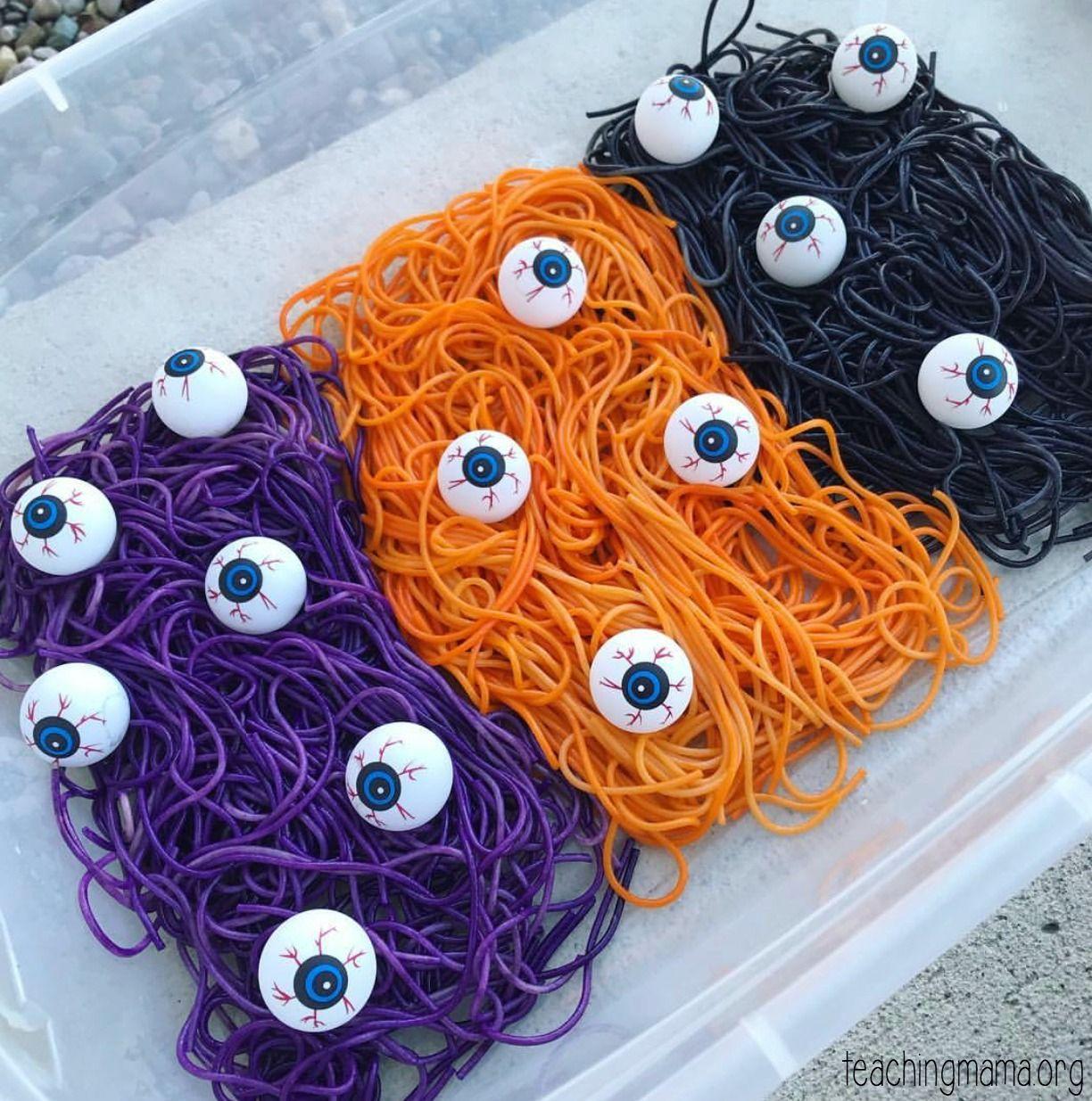 Spooky Noodles Sensory Activity
