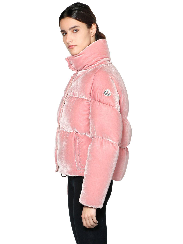 MONCLER Down Jackets 17/18 winter ** MONCLER CERCIS VELVET _ pink 3