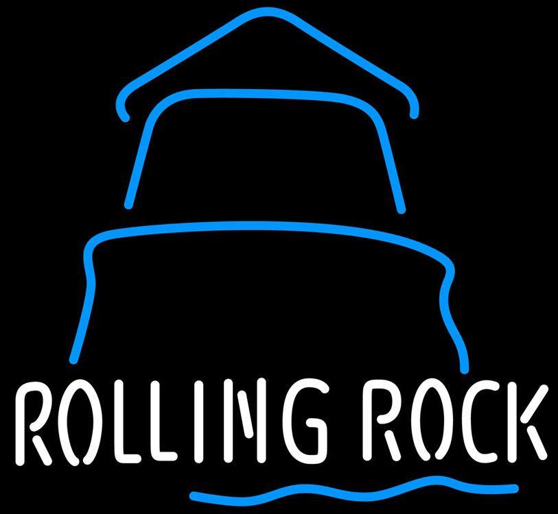 Rolling Rock Day Lighthouse Neon Beer Sign Rolling Rock Neon Beer