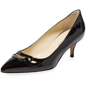 Sarah Flint Women's Audrey Patent Leather Kitten Heel - Black ...