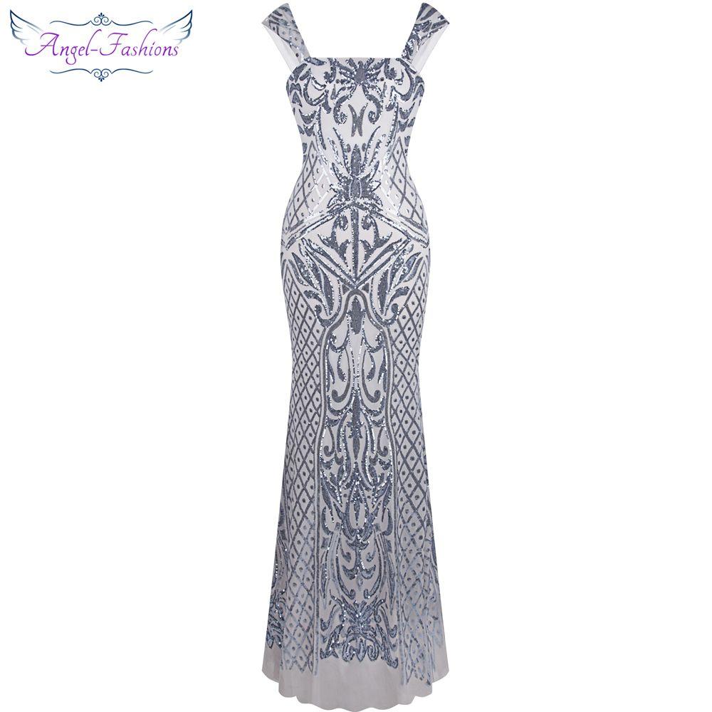 Angel-fashions Vintage Gatsby Flapper Sequin Della Sirena Vestito Da ...
