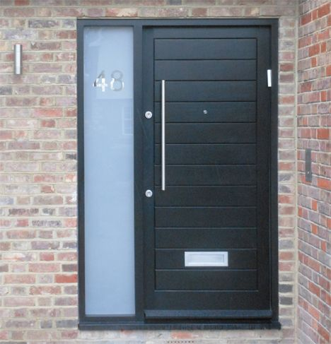 Contemporary black front doors google search black for Black wooden front door