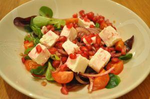 Feta & Pomegranate salad |  A Cookbook Collection