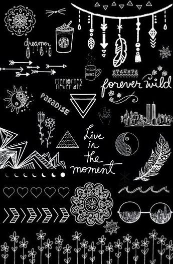 Black And White Wallpaper Overlays Transparent Tumblr Background