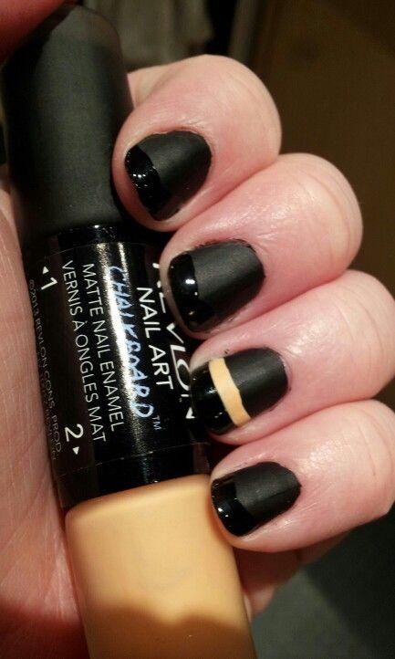 Revlon Chalkboard Nail Art Overachiever Pinterdid Pinterest
