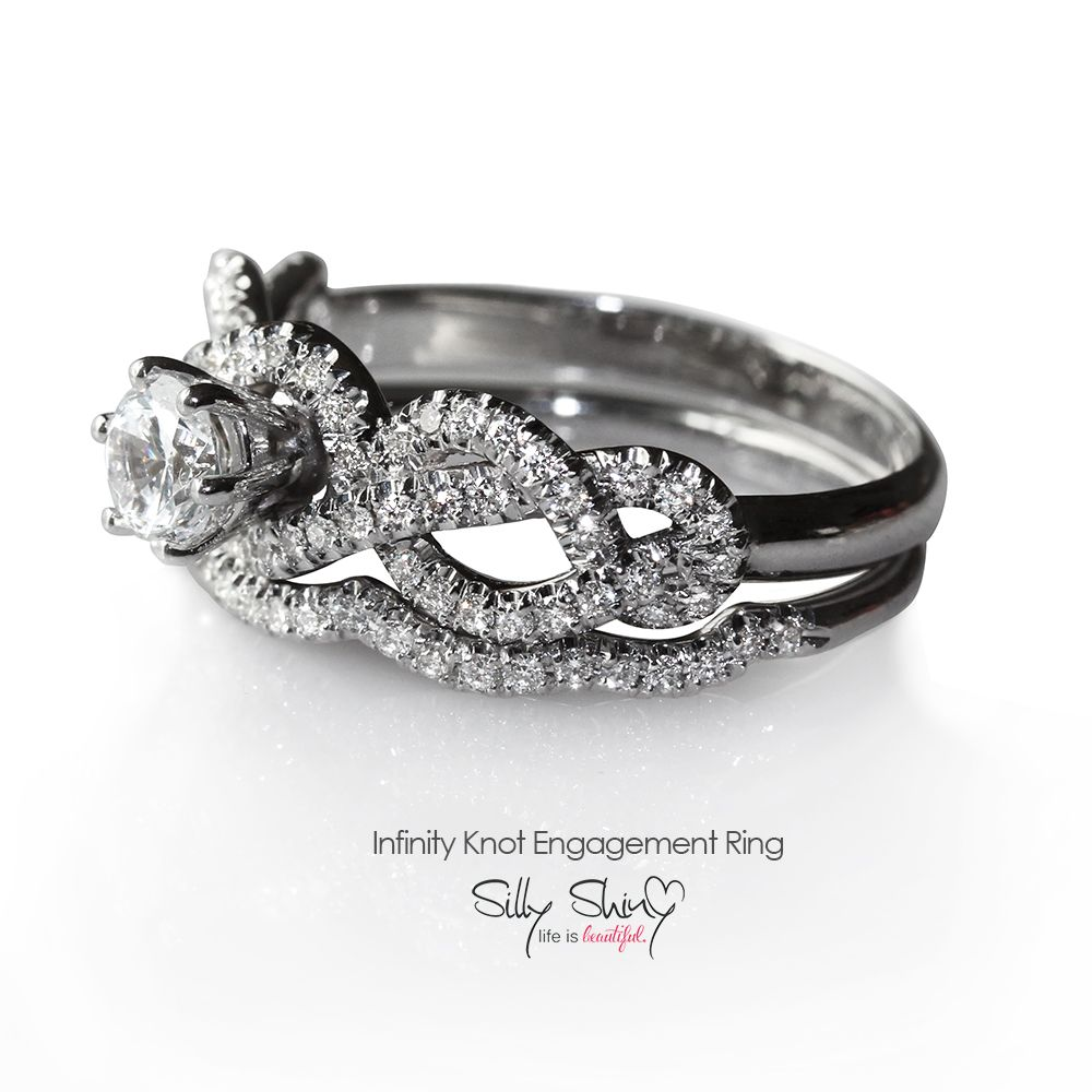 infinity knot engagement ring by silly shiny silly