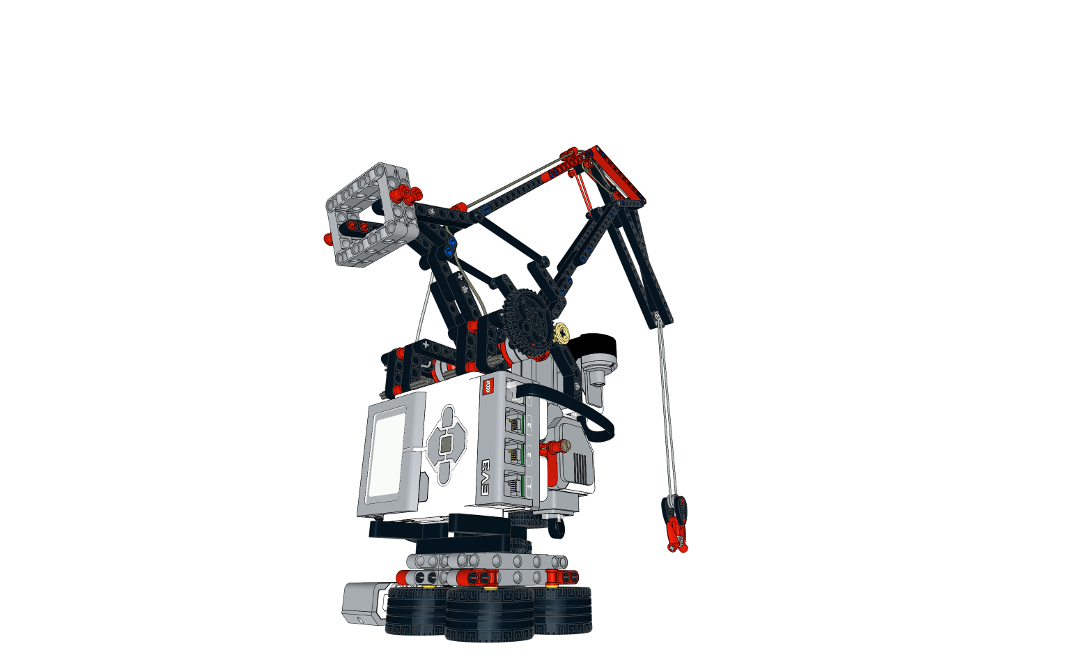 Ev3 Tripod Model Building Instruction