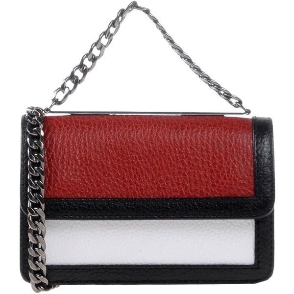 Lina Brax Cross-body Bag (€84) ❤ liked on Polyvore featuring bags, handbags, shoulder bags, red, red purse, red handbags, leather crossbody, leather cross body purse and red crossbody