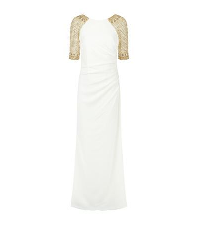 Badgley Mischka Embellished Sleeve Jersey Gown available to buy at Harrods. Shop women's designer fashion online and earn Rewards points.