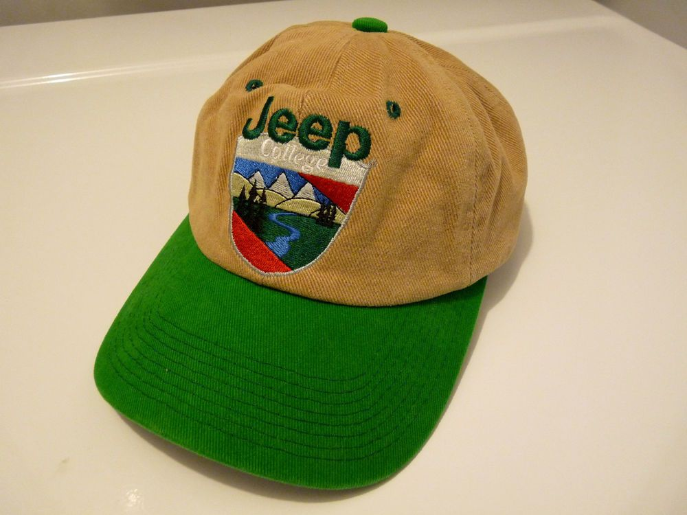 jeep stone washed baseball caps vintage college hat cap medium wrangler canada
