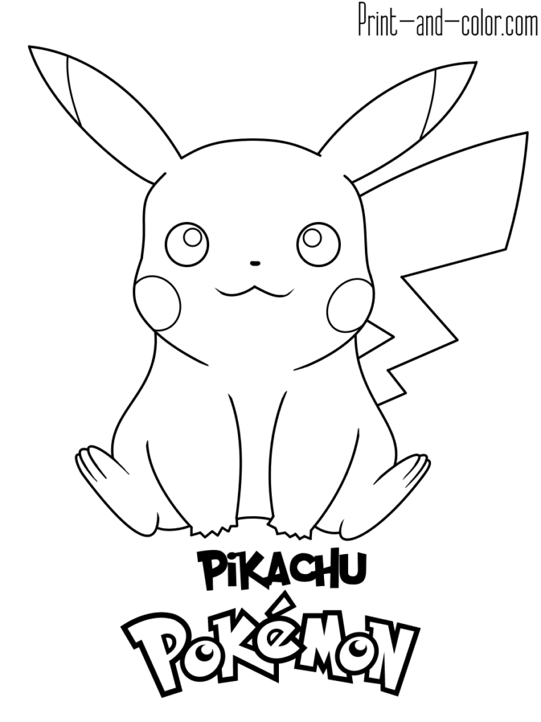 Pokemon Coloring Pages Print And Color Com Pikachu Coloring Page Pokemon Coloring Pokemon Coloring Pages