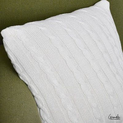 Old Sweater Turned Throw Pillow