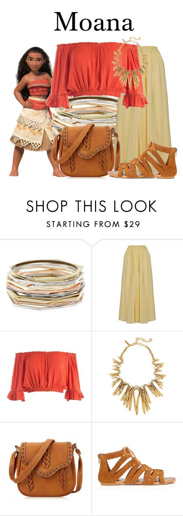 """Moana"" by megan-vanwinkle ❤ liked on Polyvore featuring Kendra Scott, Sans Souci, Miss Selfridge, disney and moana"