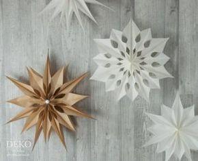 diy gro er weihnachtsstern aus brotpapiert ten deko kitchen diy. Black Bedroom Furniture Sets. Home Design Ideas