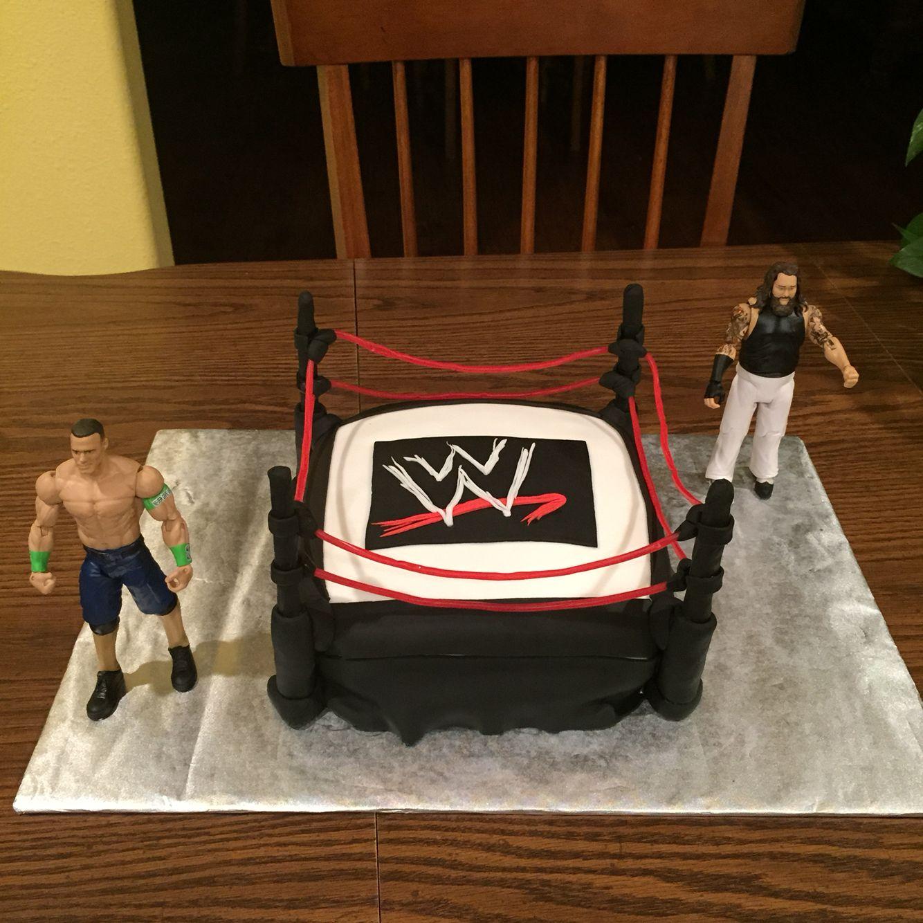 Wwe Wrestling Birthday Cake Done