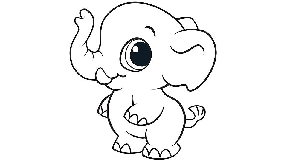 Learning Friends Elephant Coloring Printable With Images