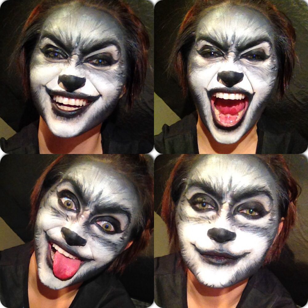 Wolf makeup for halloween by me makeup by me pinterest maquillage halloween et - Maquillage halloween couple ...