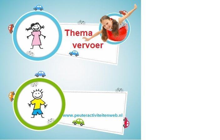 thema Vervoer |educatief en creatief thema voor kinderen in de Kinderopvang