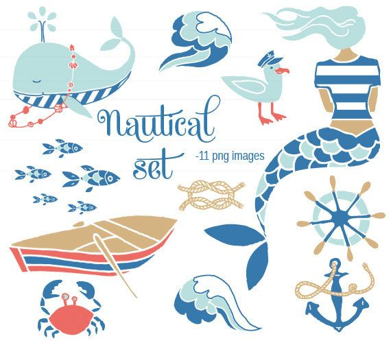 Clip Art Nautical Set For Commercial And Personal By Ikakudo