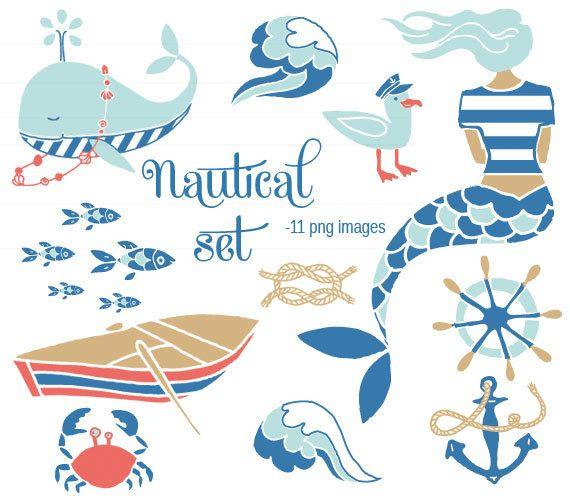 Free Nautical Clip Art   CLIP ART - Nautical Set - for commercial ...