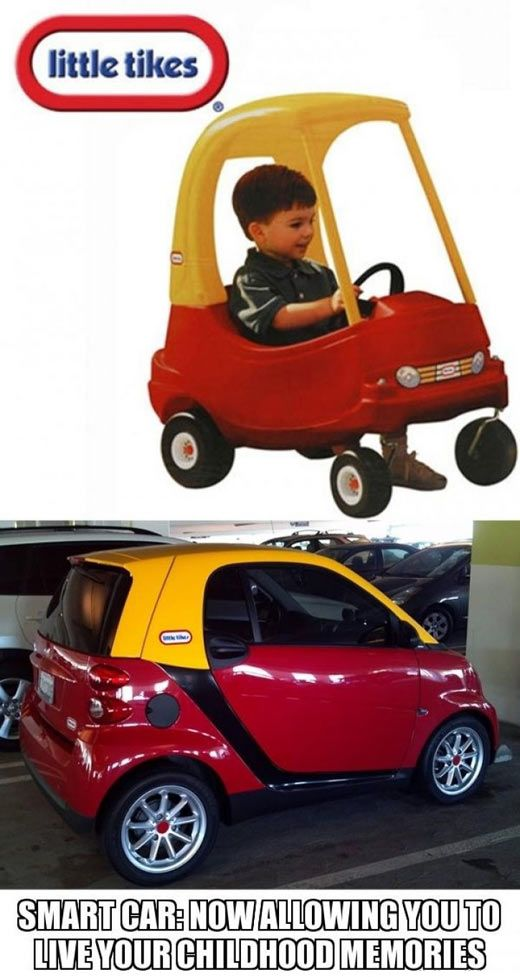 Smart car… | Smart car, Cars and Humor