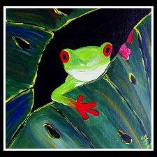 Peek-a-Boo Frog