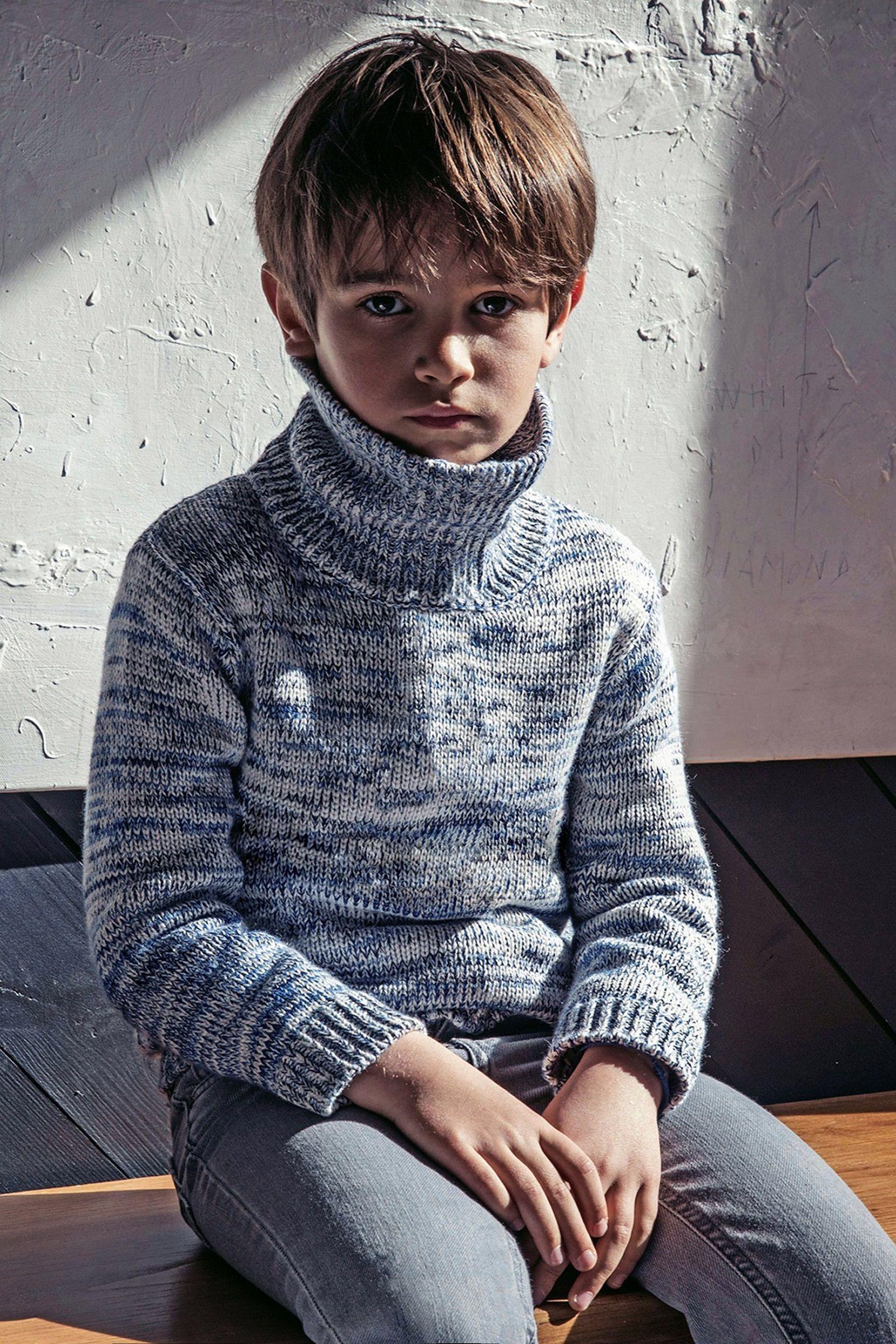 boys kids merino alpaca turtleneck sweater, photo from