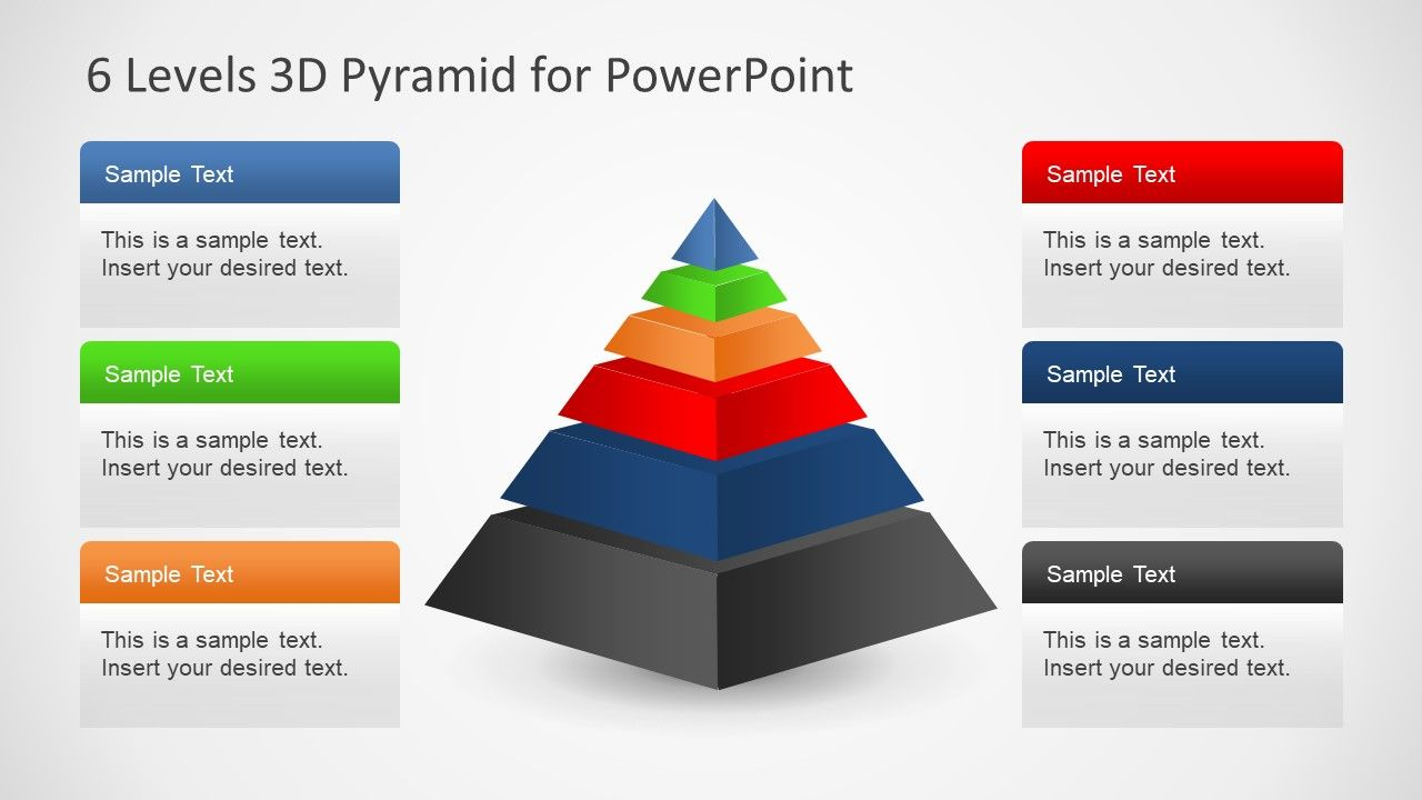 6 Levels 3d Pyramid Template For Powerpoint Powerpoint Templates