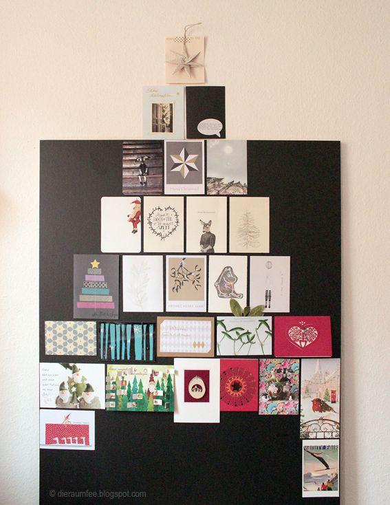Weihnachtsbaum aus Karten (Die Raumfee: Weihnachts.Post.Nachlese.)