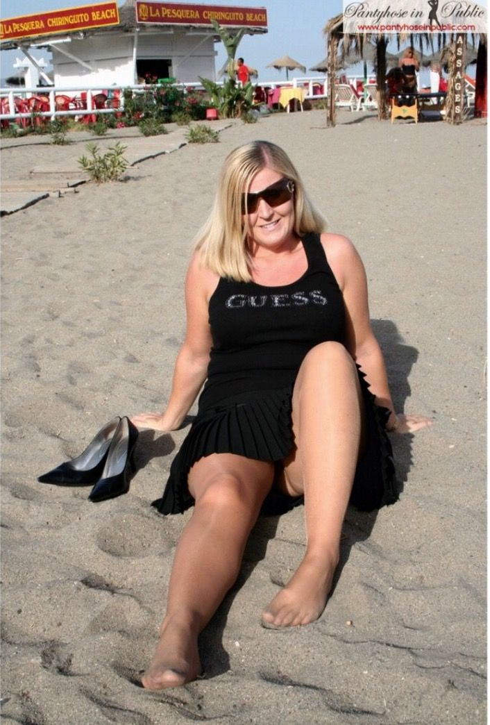 Rather valuable mature pantyhose in public consider