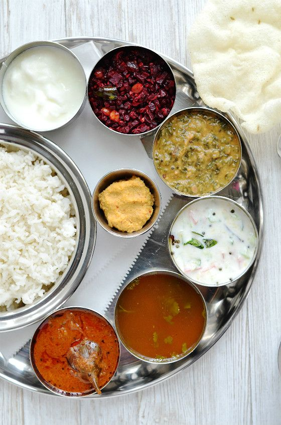 Simple Everyday South Indian Thali Indian Food Menu South