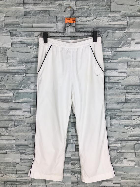 870cfe54f4f Vintage NIKE Track Pants White Ladies 90 s Nike Swoosh Pants Training  Sportswear Nike Sports Tracksu