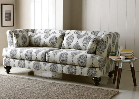 Beautiful Living Room Patterned Sofas Home West Elm Sofa Furniture