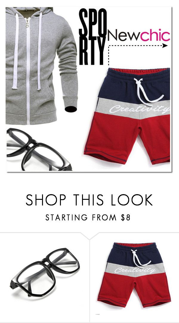 """""""Go sporty -NewChic"""" by mojosoigne ❤ liked on Polyvore featuring men's fashion and menswear"""