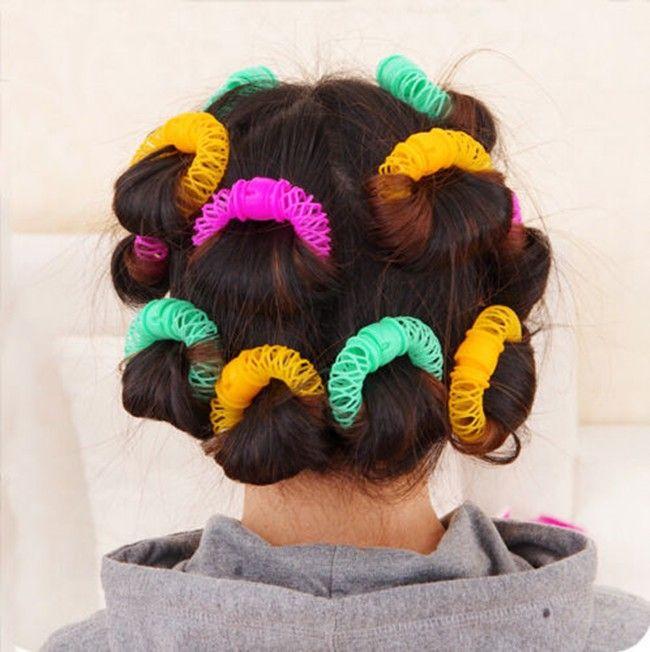 8 pz/set New Hair Styling Roller Hairdress Magia Bendy Bigodino di capelli A Spirale Riccioli DIY Strumento di Piccola dimensione 6.5 cm Accessori Per Capelli